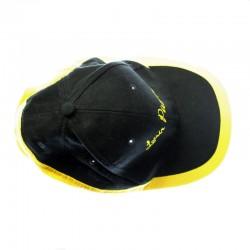 Casquette noire/jaune Loisir Pétanque
