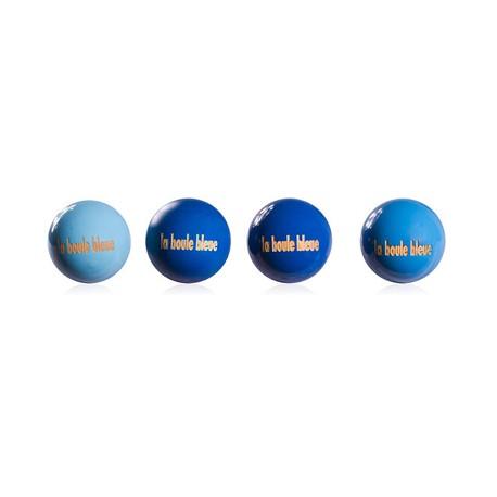 """4 buts collector """"La Boule Bleue"""""""