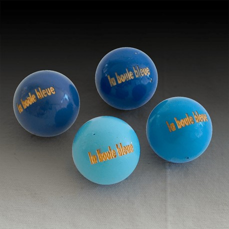 Sac de 50 buts de pétanque en buis La Boule Bleue